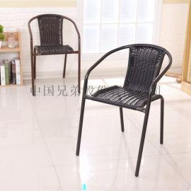 特价塑料大藤椅麻将椅餐椅凳办公电脑椅靠背椅子休闲椅围椅椅子
