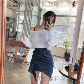 白沙女杭州尾货衣服批发市场在哪里 济南女装品牌折扣批发尾货藏蓝色外套