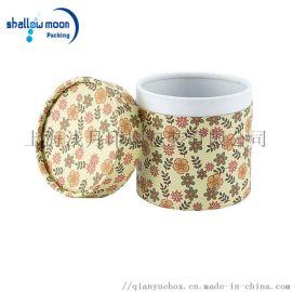 上海印刷厂 天地盖 彩色小碎花款 圆筒包装盒