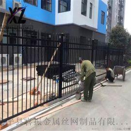新农村建设护栏,黑色围墙护栏,锌钢围墙护栏颜色