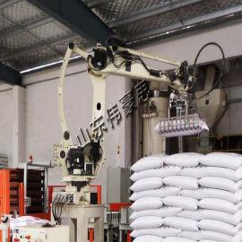 供应复合肥料包装码垛机器人 全自动码垛生产线