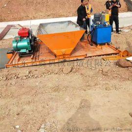 液压自走式水渠成型机 农田梯形渠道衬砌滑膜机