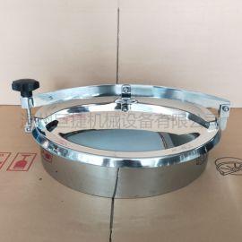 不锈钢常压人孔 卫生级常压人孔 带网格常压人孔