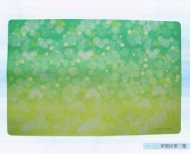 W-005_渐层绿黄光圈电竞滑鼠垫