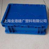 厂家直销 43148塑料箱  塑料周转箱 带盖子塑胶箱 400*300*148