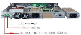 带RF射频输入光纤放大器、RF 插入 EDFA乡镇广电插播自办节目专用