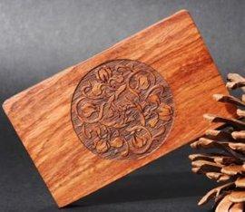 镜花缘花梨红木名片盒夹 红木工艺品 商务办公文具广告促销礼品
