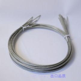 厂家直销镀锌涂塑钢丝绳|透明环保PVC包胶钢丝绳