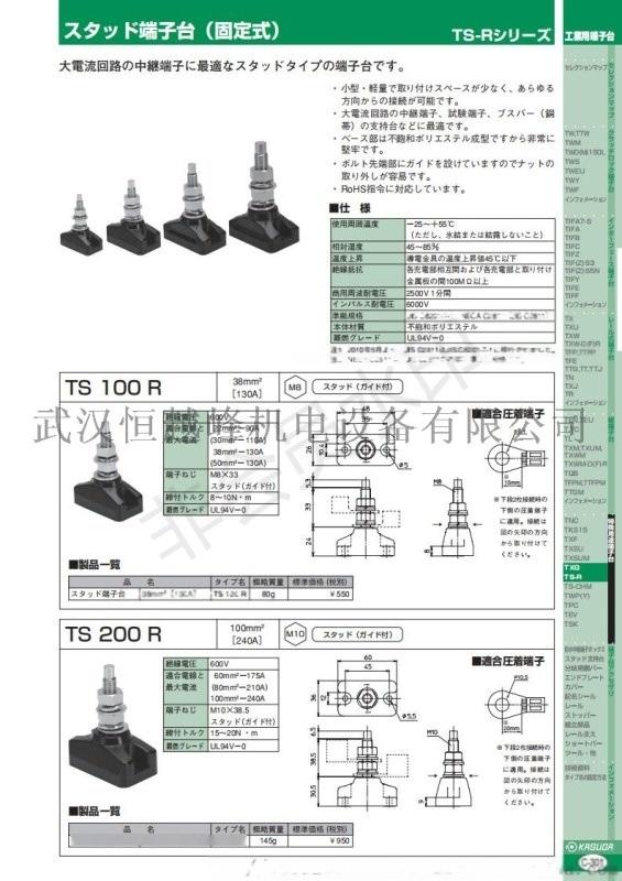 优势代理日本春日电机固定端子台TS100R