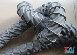夹布风管,可伸缩风管,灰色通风管