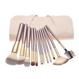 12支米色化妆套刷睫毛刷眉梳刷 时尚套扫 化妆刷 化妆用具 便携款