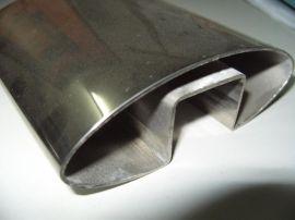 凹槽不锈钢椭圆管;不锈钢凹槽椭圆管