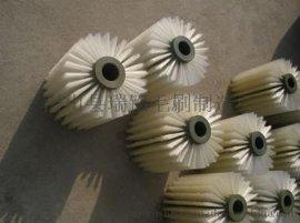 缠绕式螺旋式毛刷辊 毛刷滚 清洗尼龙丝猪鬃磨料丝刷辊 工业机械毛刷