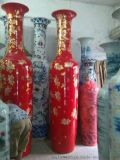 手绘青花3米陶瓷大花瓶 3米落地大花瓶定做