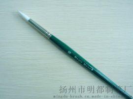 绿色木杆铜镀镍箍化纤丝毛画笔(219)