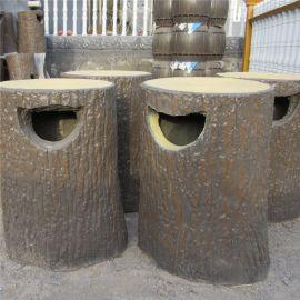 现货 水泥仿木垃圾桶 垃圾箱 厂家批发定做