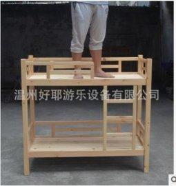 幼儿园上下双人床 实木上下铺儿童床 **床樟子松拆装床