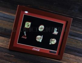 纪念币/收藏品   加厚立体画框批发 徽章用礼品相框 加工定制