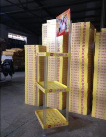 【厂家直销】食用油塑料货架棉籽油促销展示架5L粮油三层货架
