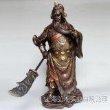 仿古青铜器 铜关公 商务礼品  武财神 家居办公装饰品