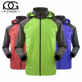 防水户外广告风衣定制印logo 冬季工作服长袖外套定做