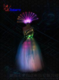 舞台演出LED发光服长沙天创舞台表演服