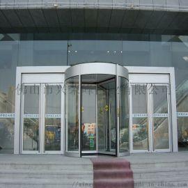 梅州商铺旋转门,铝型材氟碳旋转门