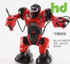 锋源遥控机器人玩具 儿童早教机器人 红色卡尔文唱歌跳舞互动