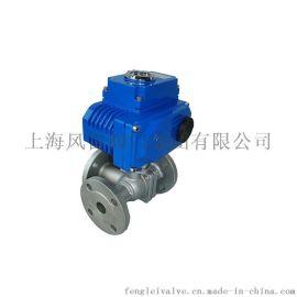 上海风雷电动三通球阀Q945F L型球阀 三通球阀