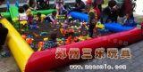 山東曲阜兒童玩的決明子充氣沙灘池組合套餐