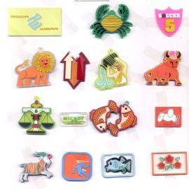多彩软胶标、硅胶标、矽利康标、胶章、反光标