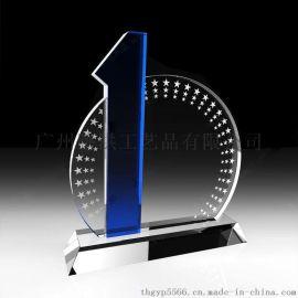 广州水晶奖牌水晶授权牌公司年会颁奖奖杯奖牌定制