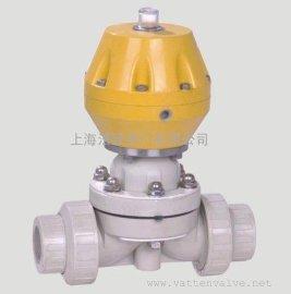 塑料气动隔膜阀 气动活接隔膜阀 上海生产商气动隔膜阀