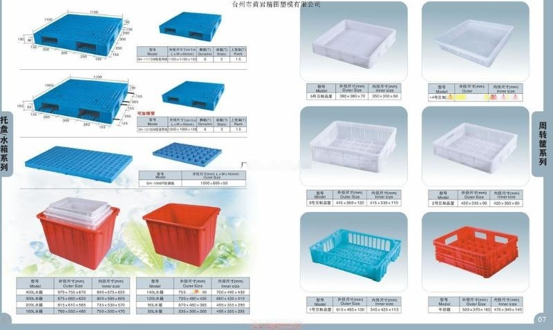 工厂用周装箱模具仓库塑料托盘模具