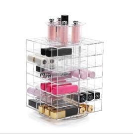 透明亚克力化妆品口红展示架可旋转收纳盒