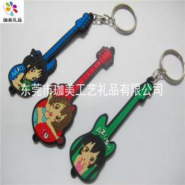 供应单面PVC软胶钥匙扣 消防钥匙扣 钢琴钥匙扣