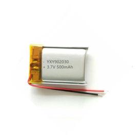 聚合物锂电池902030-500mAh 3.7V LED台灯汽车检修灯美容仪电池