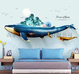 山东厂家 直销3d5d客厅餐厅集成墙板背景墙装饰画