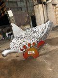售楼部水景不锈钢镂空树叶雕塑定制厂家