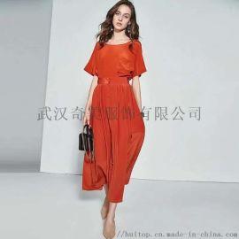 点占杭州气质女装时尚端雅品牌女装连衣裙