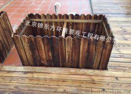 北京户外花箱木质花盆塑木花箱组合花箱