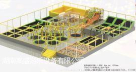 湖南室外大型蹦床 游乐设备 淘气堡生产厂家