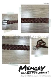 专业生产女士真皮编织腰带(东莞市弘鼎皮具制品有限公司)