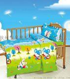 德德小樂幼兒園兒童牀上用品純棉花被子被褥6件套裝小兔樂園