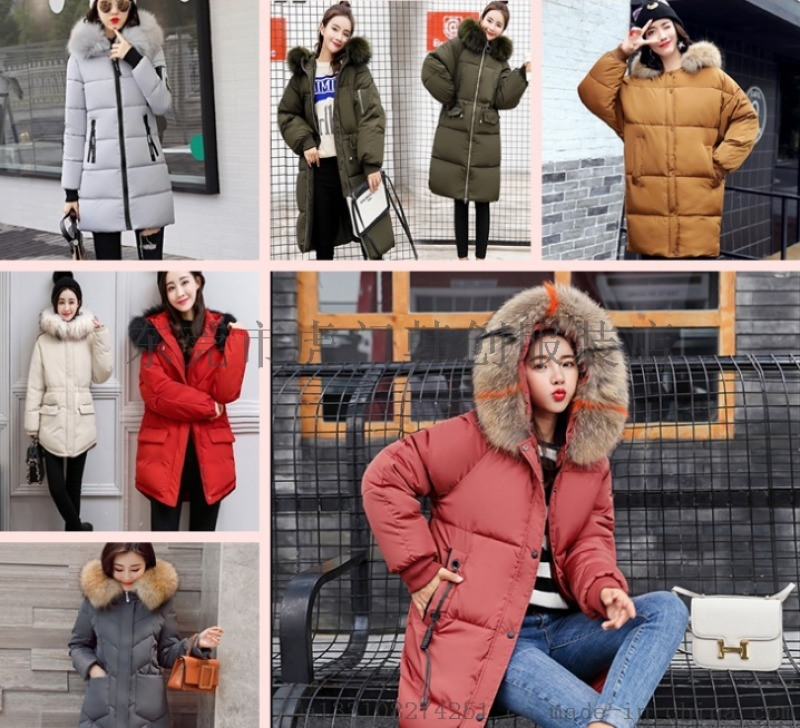 便宜女装棉衣外套库存羽绒服中长款棉袄处理厂家直批