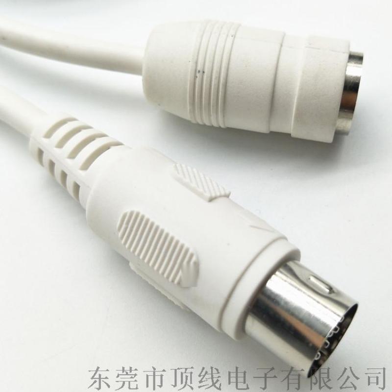 大DIN8P公對母延長線電源線