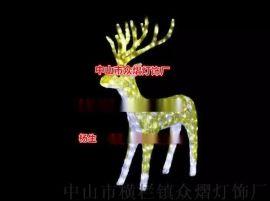 滴胶动物造型灯3D鹿拉车造型灯节日户外装饰图案灯