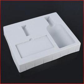吸塑订制加工植绒托_PVC植绒红酒吸塑包装盒_塑料吸塑植绒包装