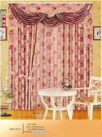 金丝布提花印花金线窗帘布