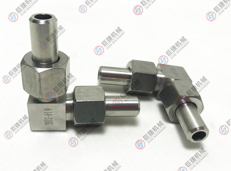 厂家直销不锈钢直角管接头 304对焊接头 螺纹对焊直管弯头 304管
